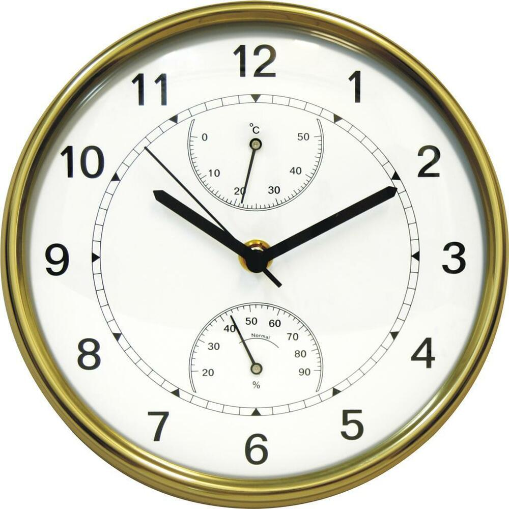 contemporary wall clocks brass wall clock with thermometer hygrometer contemporary 11805
