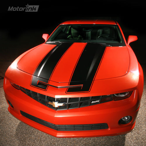2010 2012 chevy camaro rally racing stripes kit hood. Black Bedroom Furniture Sets. Home Design Ideas