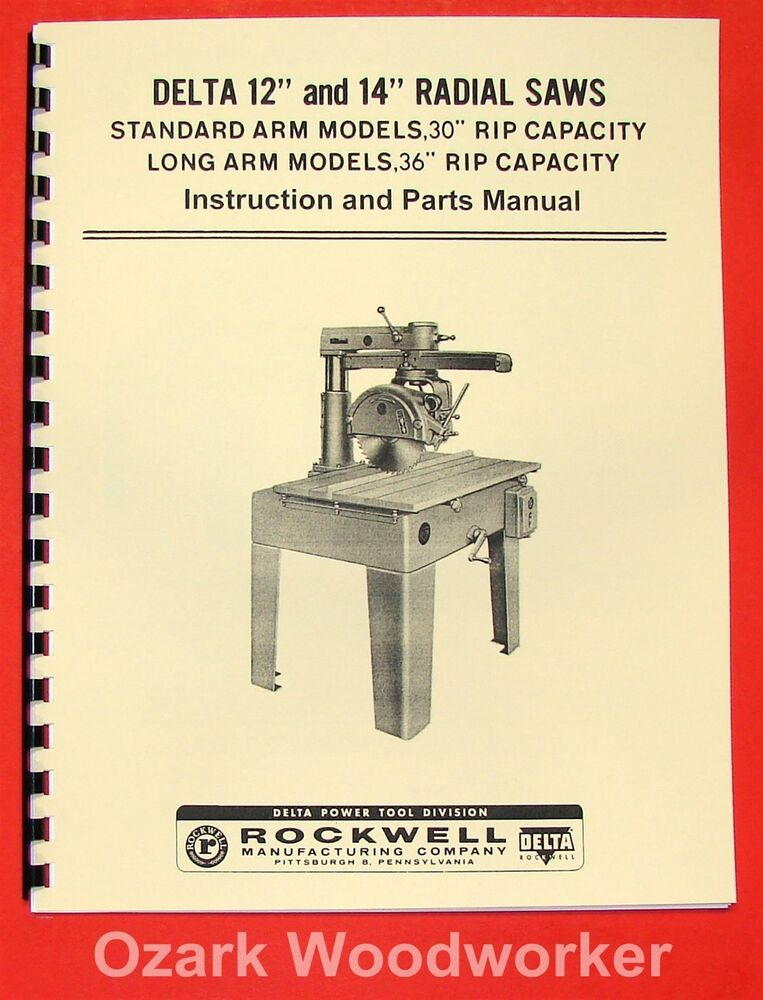 Delta Industrial Radial Arm Saw Manual