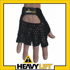 Gel Cotton Mesh Weight Lifting Exercise Gym Gloves L fitness leather Black