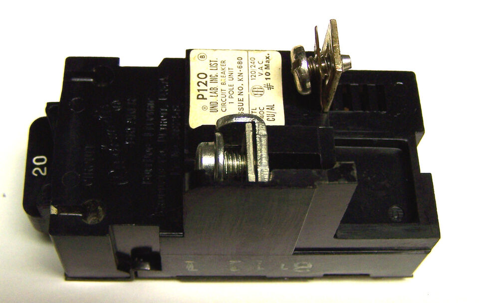 pushmatic bulldog circuit breakers .. p120 or 31120 ... 1p ... bulldog fuse box