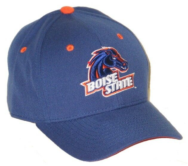 Boise State Broncos Bsu Blue Fitted Hat Cap Size 7 1 8 New
