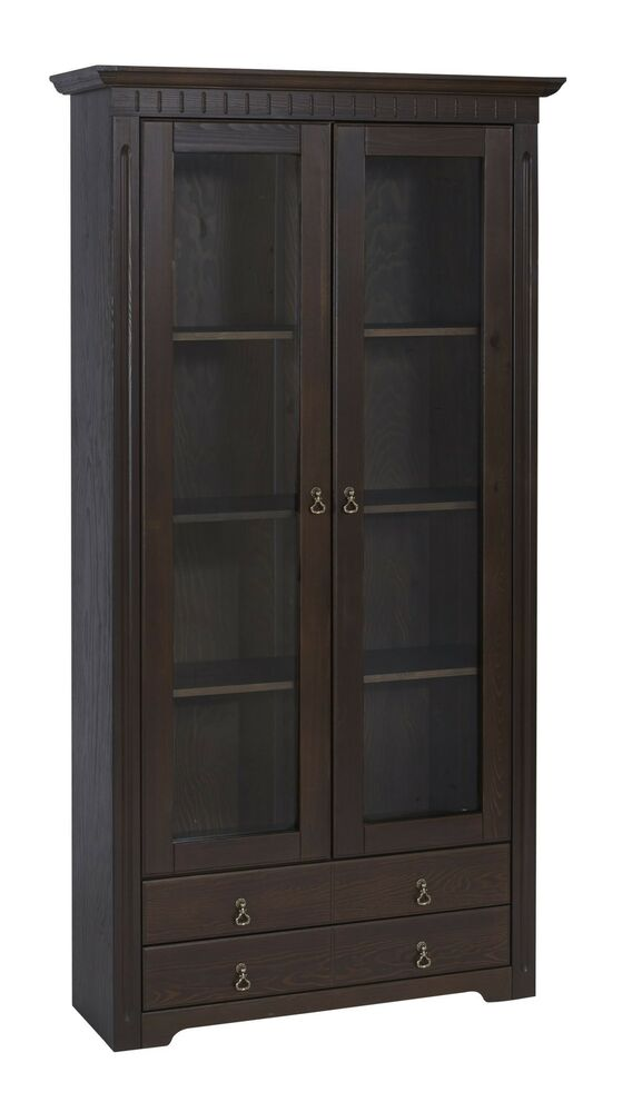cordoba vitrine vitrinenschrank nr 72 aus massivholz. Black Bedroom Furniture Sets. Home Design Ideas
