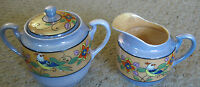 "JAPANESE PORCELAIN CREAMER AND SUGAR BOWL WITH LID, MARKED ""MADE IN JAPAN"""