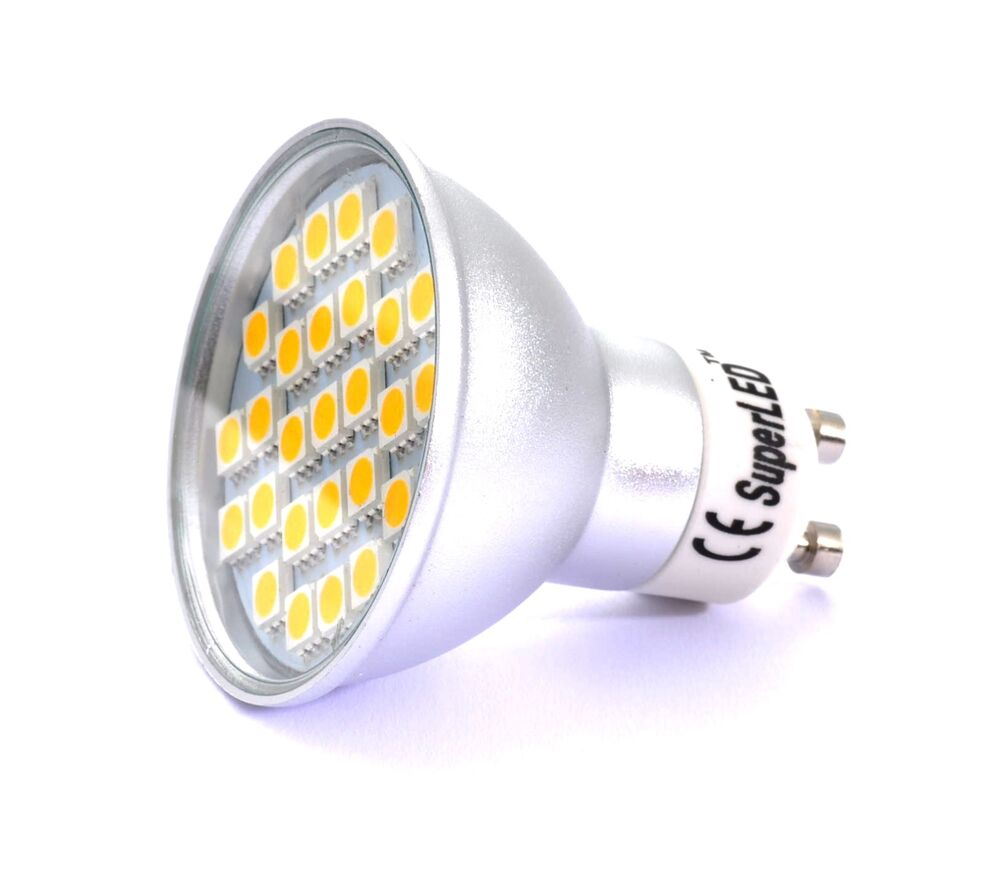 Gu10 27x5050 Smd Led Dimmable 460 Lumens Bulb Replaces 50 60w Halogen Ebay