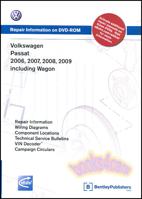 passat shop manual service repair volkswagen book bentley vw dvd 06 09 ebay. Black Bedroom Furniture Sets. Home Design Ideas