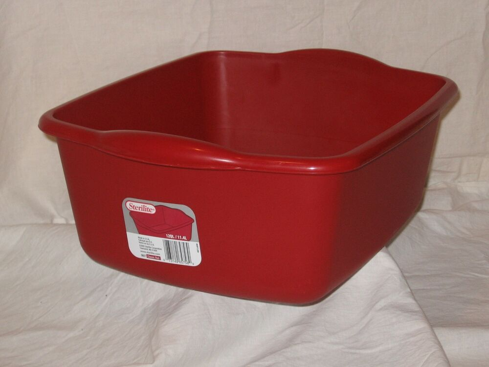 Laundry Tub Plastic : ... Kitchen Sterilite 12 Qt Plastic Sink Dish Pan Wash Tub Laundry eBay