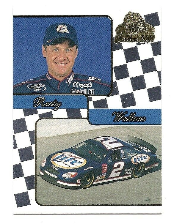 rusty wallace press pass premium card 2001 nascar 29 ebay. Black Bedroom Furniture Sets. Home Design Ideas