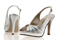 White Satin Wedding Bridal Bridesmaid Shoes 4,5,6,7,8 Pure & Precious NIKKITA