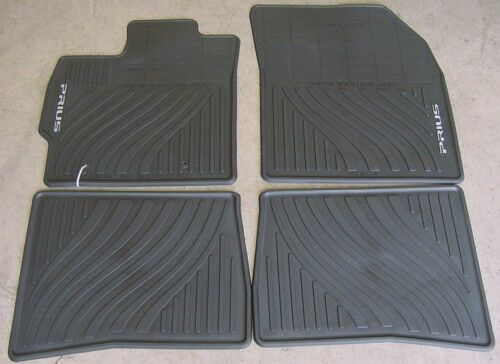 Toyota Prius 2010 2011 Black All Weather Mats Oem New Ebay