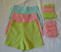 Gymboree CANDY APPLE Choice of Pocket or Bike Knit Shorts NWT Pink Aqua Green