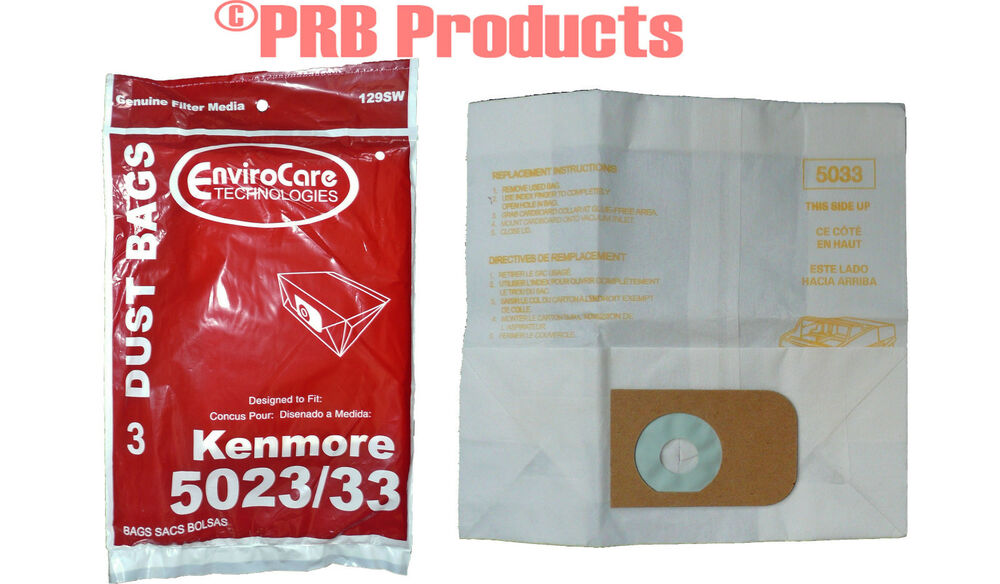 Kenmore 5023 5033 Canister Type Vacuum Cleaner Bags Sears