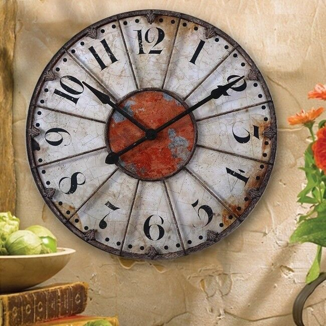 French Tuscan Antique Wall Or Mantel Old World Clock Ebay
