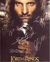 THE LORD OF THE RINGS SIGNED 8X10 CAST PHOTO REPRINT