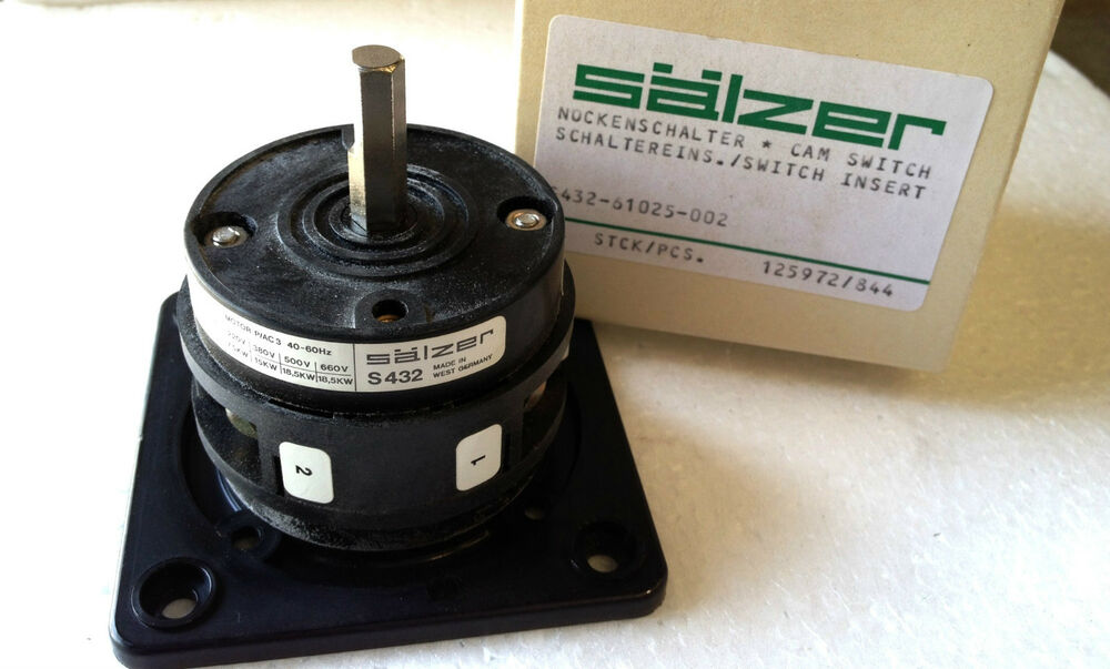 salzer s432 61025 rotary cam switch motor p ac3 40 60hz. Black Bedroom Furniture Sets. Home Design Ideas