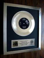 "THE BEATLES TICKET TO RIDE PLATINUM DISC 7"" SINGLE RECORD DISC AWARD"