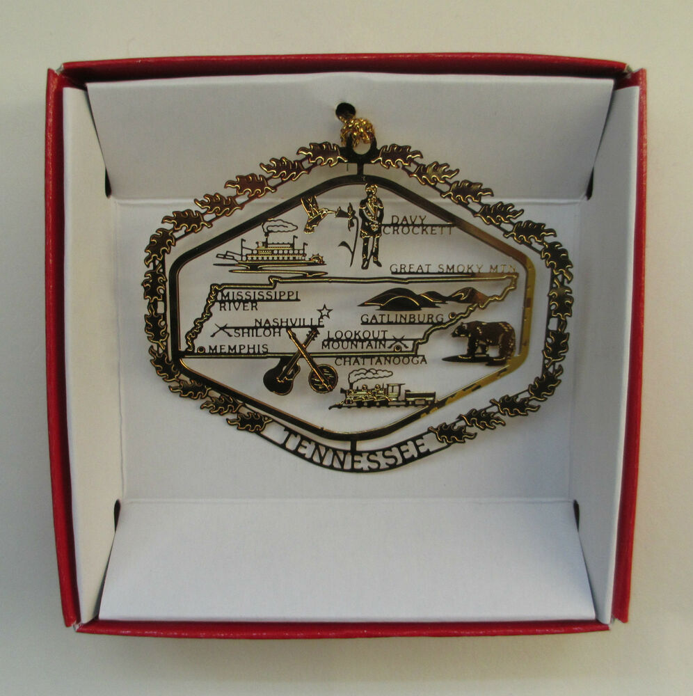 Tennessee Brass State Christmas Ornament Travel Souvenir