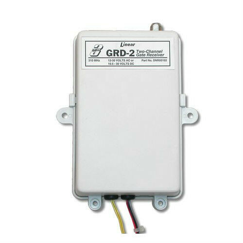 Linear delta3 grd 2 2 channel 12 24 volt gate garage radio for 12v battery garage door opener