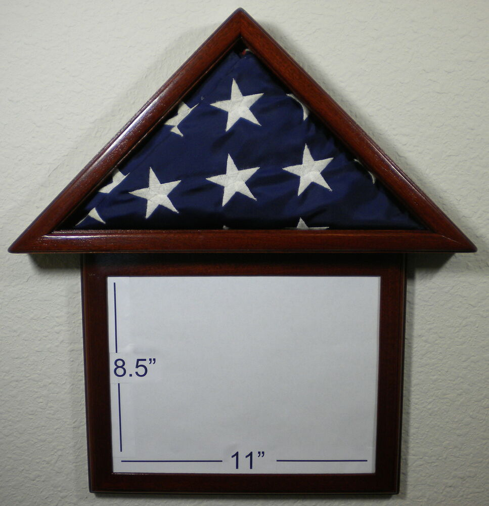 3 X 5 Mahogany With Frame Flag Display Case Capital