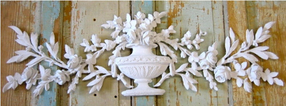 Shabby N Chic Rose Bouquet Furniture Appliques Onlays