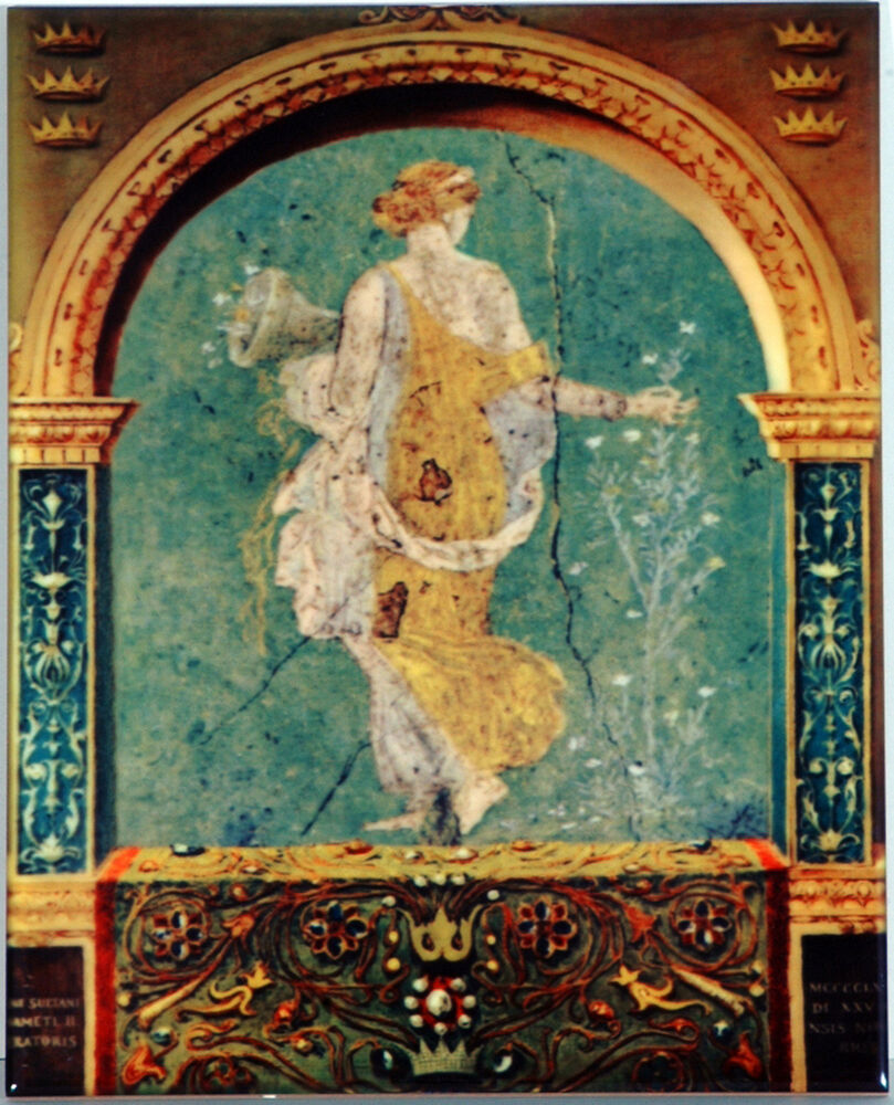 Antique greek art tile mediterranean ceramic wall hanging for Decorative mural