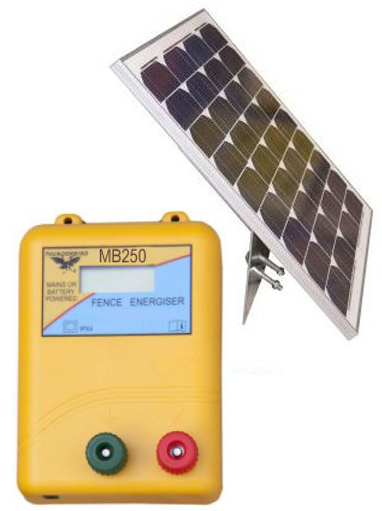 25km S250 Solar Powered Electric Fence Mb250 Energiser