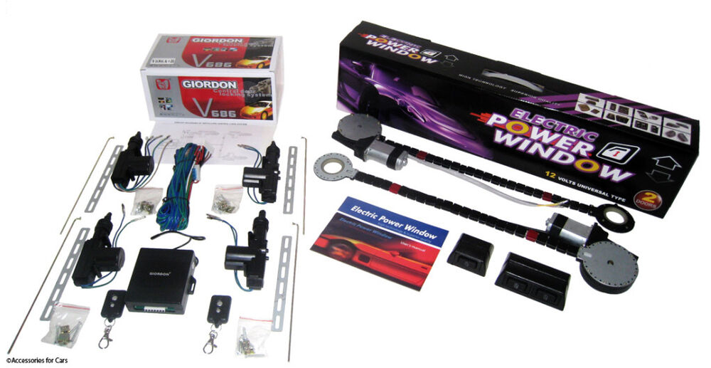 Complete power window kit w switches power door lock for 2 door power window switch kit