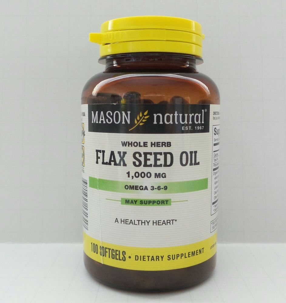 100 SOFTGELS FLAX SEED OIL 1000 MG OMEGA 3-6-9 Organic vegetable source LINAZA | eBay