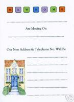 Exclusive New Home change of address cards & envelopes