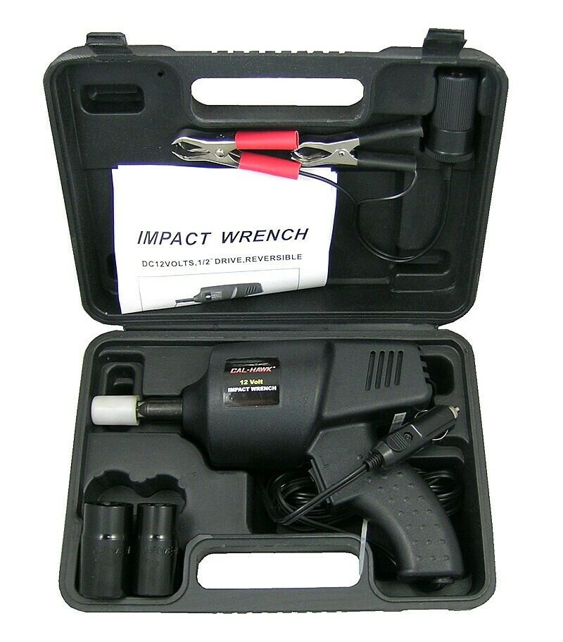 Details About 12 Volt Impact Auto Wrench Roadside Emergency Portable Automotive Tools