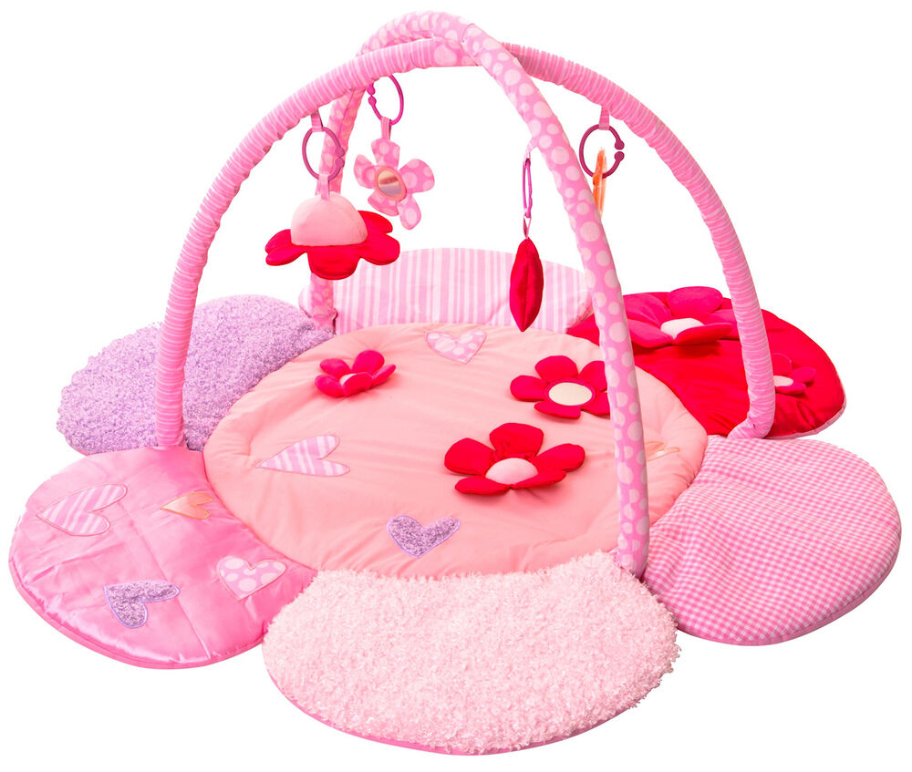 NEW RED KITE PINK PETAL BABY TOY PLAY MAT ACTIVITY GYM