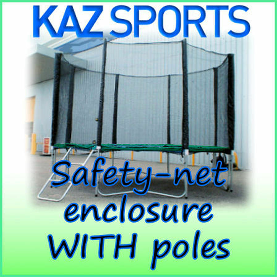SAFETY-NET ENCLOSURE / SURROUND WITH POLES AND FIXINGS FOR
