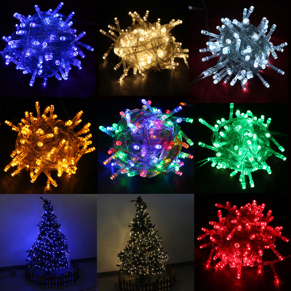 String Lights Xmas : 10M 100 LED Christmas Party String Light Fairy For Xmas Wedding Connectable New eBay