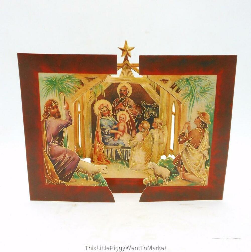 The shackman collection victorian style fold out nativity for Style christmas