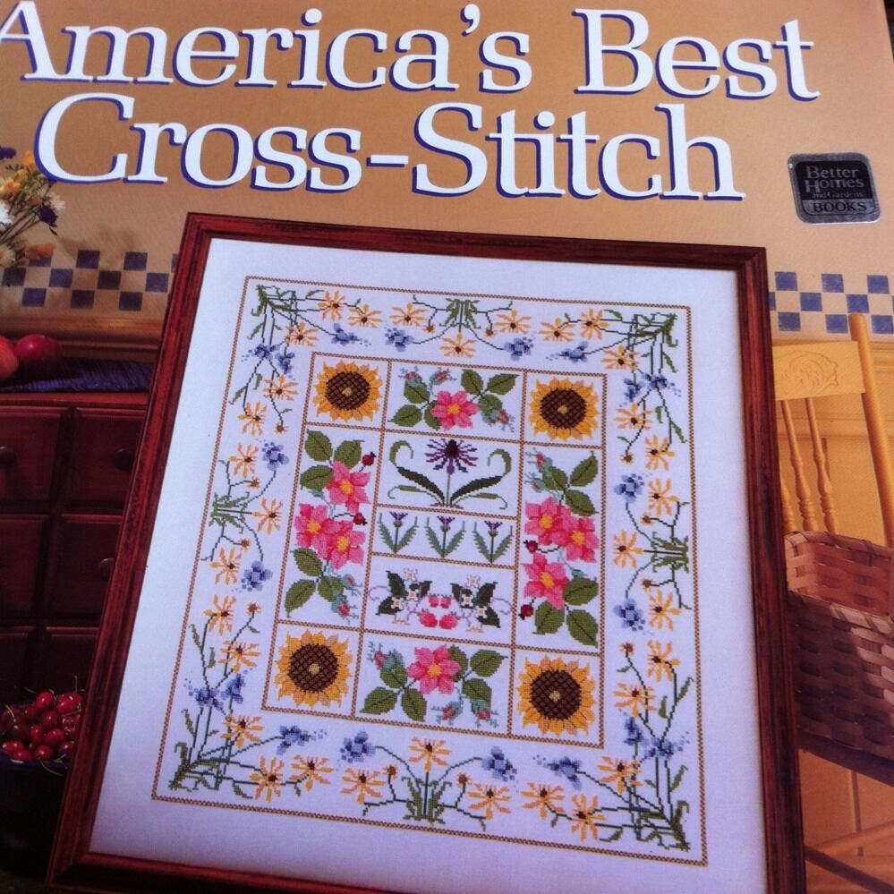 Americas best crosstitch cross stitch craft patterns book for Americas best home builders