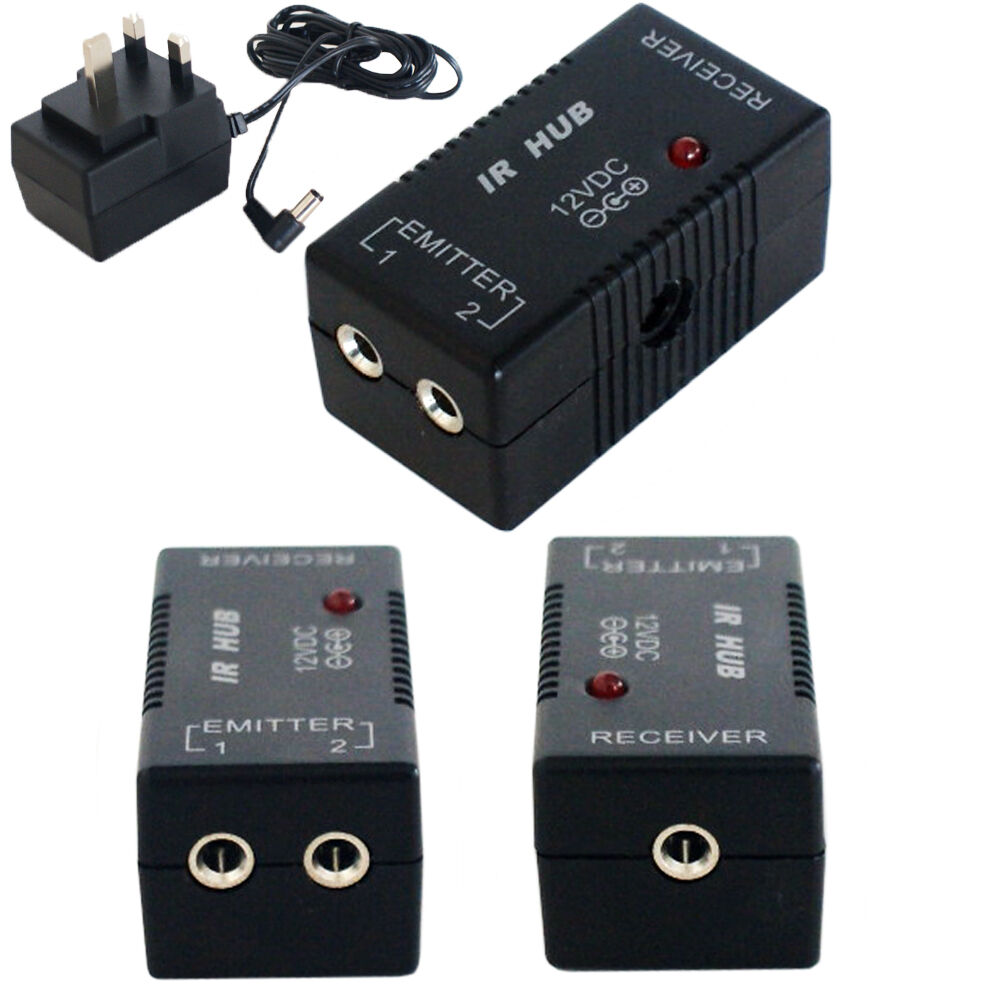 ir infrared hub repeater system 12v remote control extender distribution ebay. Black Bedroom Furniture Sets. Home Design Ideas