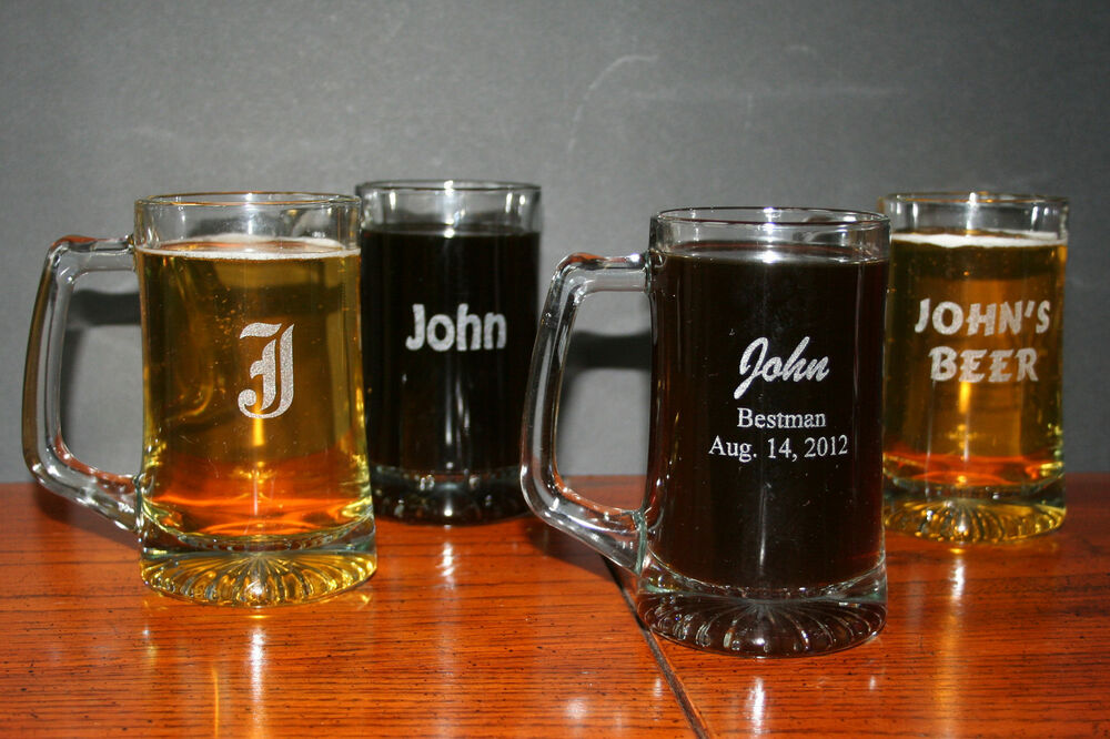 Engraved Wedding Mugs : Custom Engraved 15 oz Beer Mugs Personalized Birthday / Wedding ...