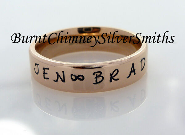 personalized hand stamped rose gold stainless steel name. Black Bedroom Furniture Sets. Home Design Ideas