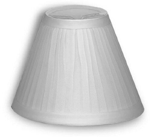 candle lamp chandelier shades clip on bulb white pleated fabric new. Black Bedroom Furniture Sets. Home Design Ideas