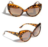 Women high Pointed Vintage Inspired Fashion Sexy Chic Cat Eye Sunglasses Tortois