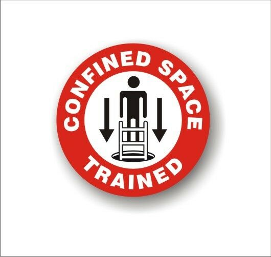 Safety Decal Hard Hat Confined Space Trained Employee