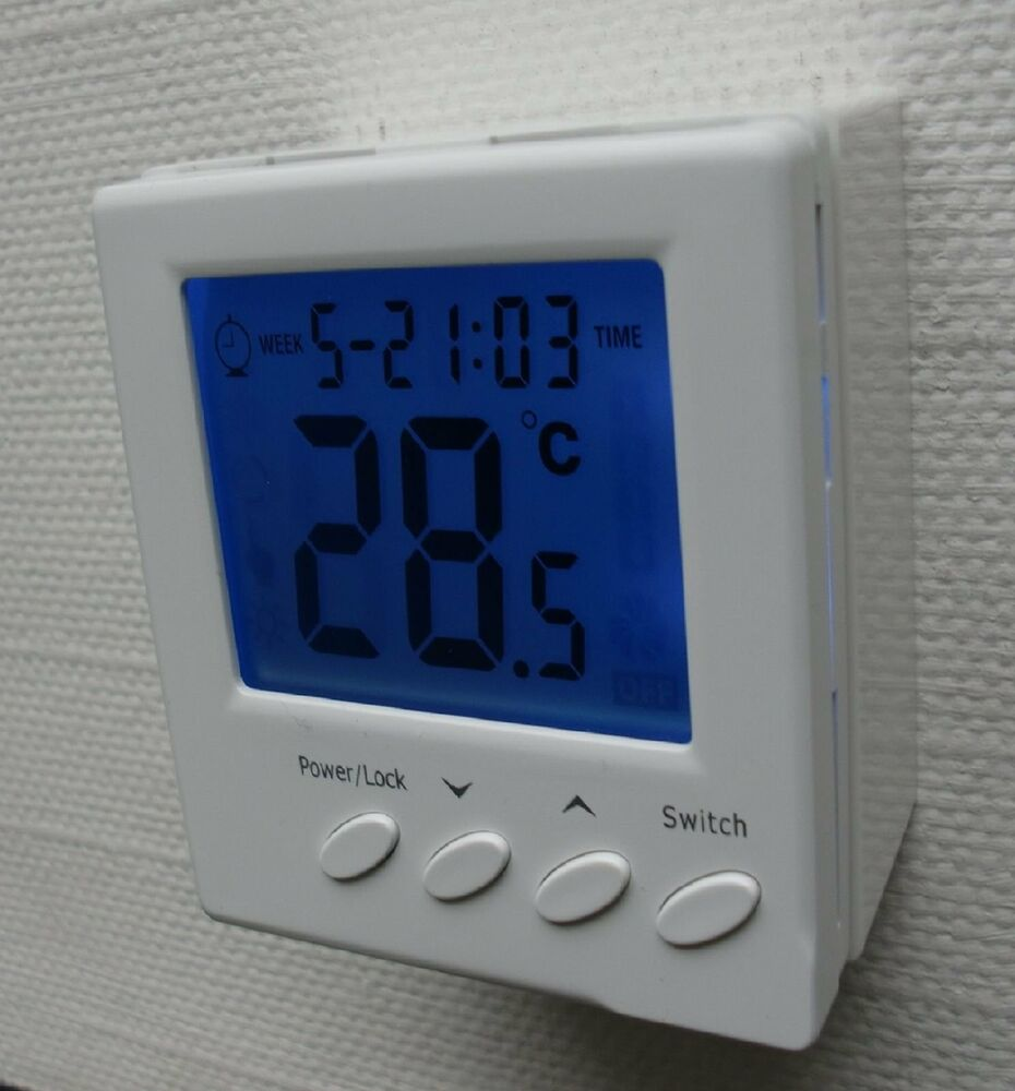 digital thermostat aufputz f r fussbodenheizung 230v 16a ap739 ebay. Black Bedroom Furniture Sets. Home Design Ideas