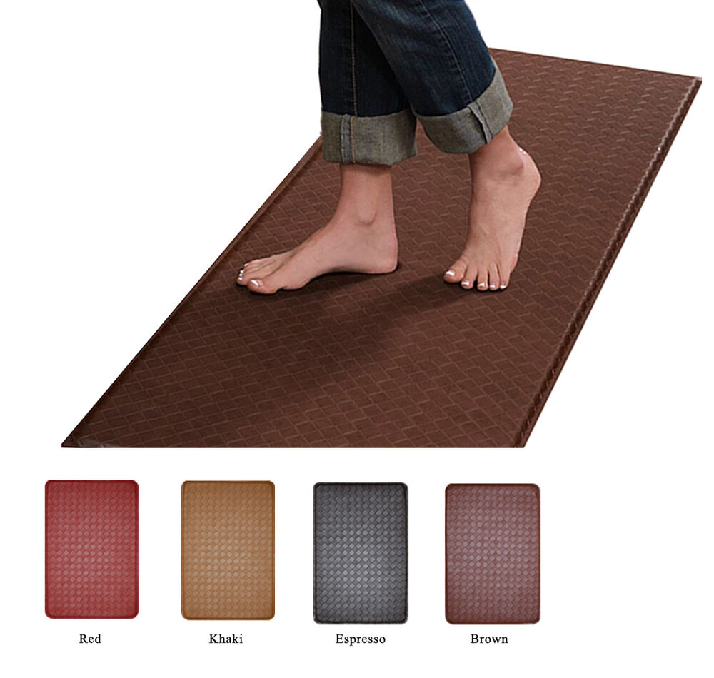 Rubber floor mats standing - Contemporary Indoor Cushion Kitchen Rug Anti Fatigue Floor Mat Actual 24 034 X 36 034 Ebay