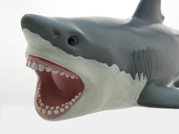 Cool Shark Toys : Great white shark large air filled vinyl squeeze toy
