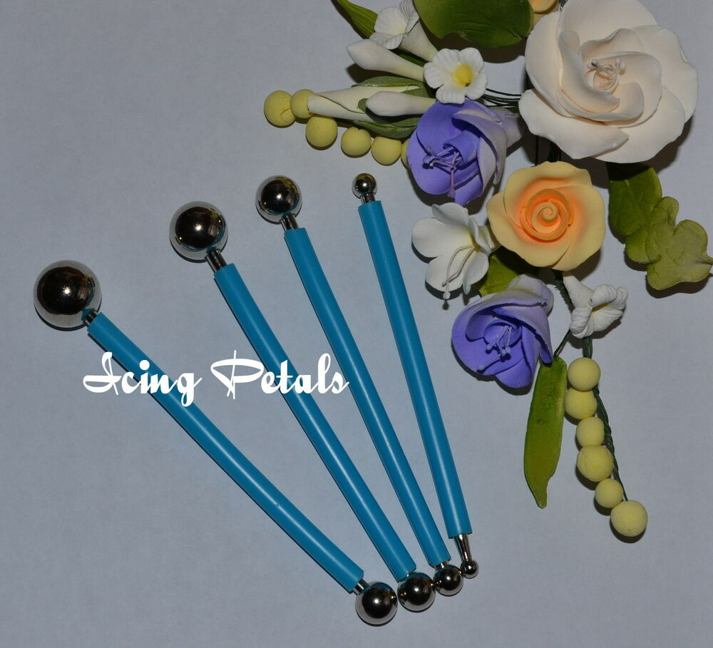 ball tool flower modelling for cake decorating by icing petals ebay
