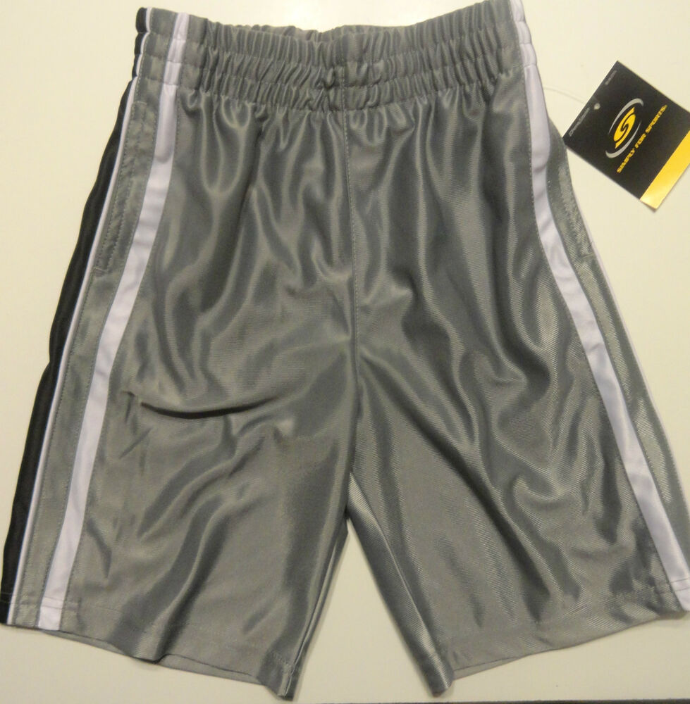 Simply For Sports Boys Basketball Gray Shorts Sizes 5, 6 ...