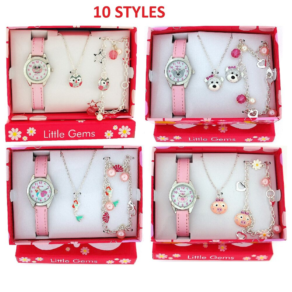 Ravel Girls Watch & Jewellery Cute Little Gems Children's