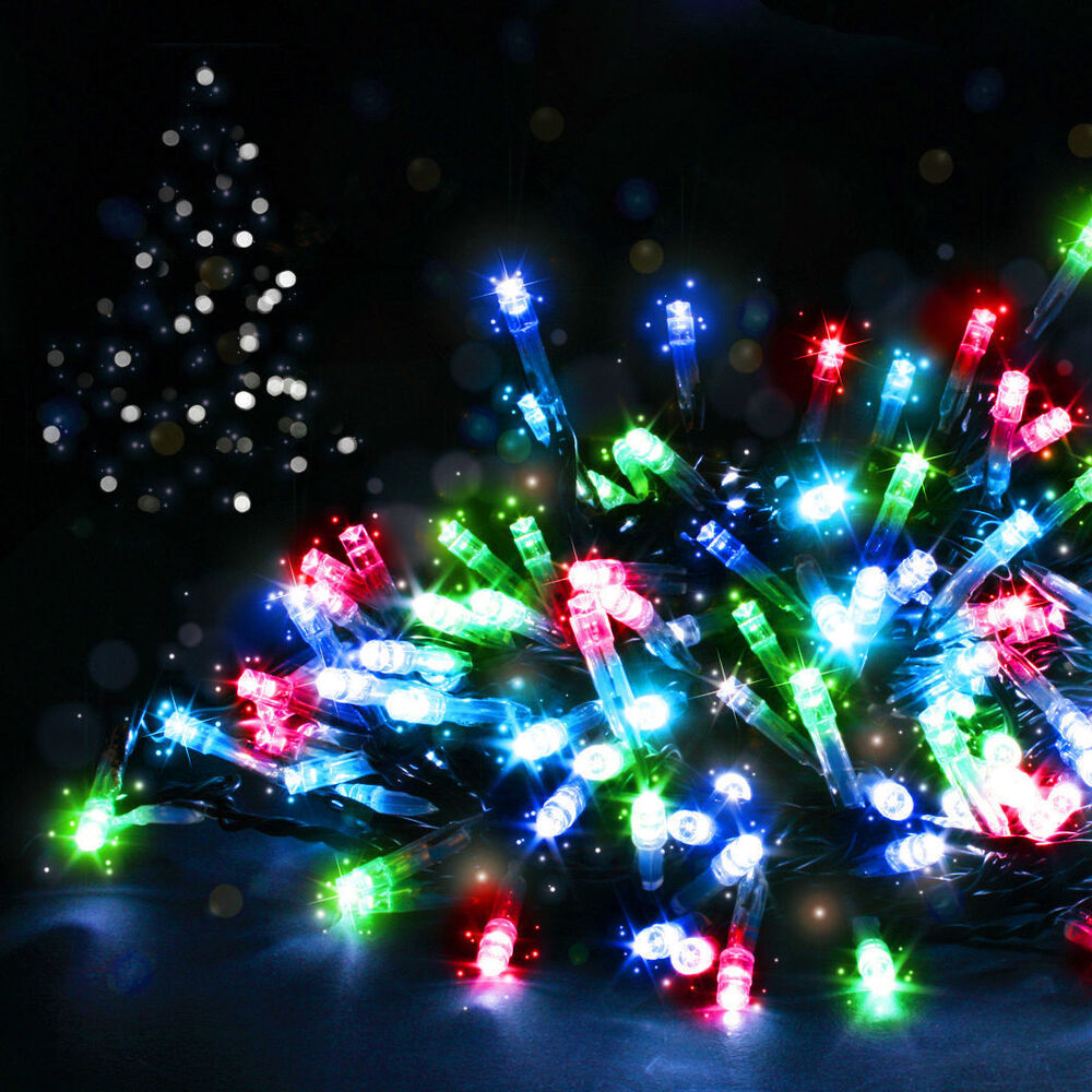 connectable christmas led lights outdoor indoor many colours accessories ebay. Black Bedroom Furniture Sets. Home Design Ideas