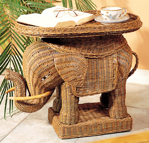 Wicker Coffee Table Indoor Uk: Indoor Wicker Elephant Table ZEC01