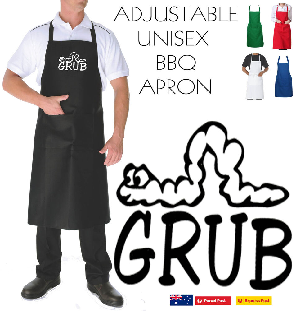 Chef Messy: GRUB Messy Cook Chef Food Funny Slogan Cool Bbq APRON